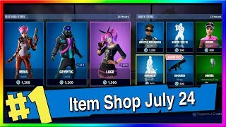 Fortnite Item Shop Mika, Cryptic and Lace Skins! July 23th, 2019 (Fortnite Battle Royale)