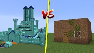 CASA NO CRIATIVO VS CASA NO SURVIVAL no MINECRAFT