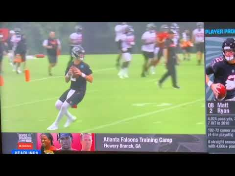 Matt Ryan Atlanta Falcons Offense Practicing Peyton Manning Style Passing Attack