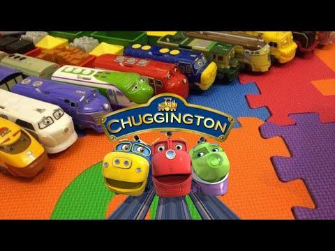 【Mainan Kereta】14 Chuggington Kereta dengan bahasa Inggris Anak-anak Lagu (01041 z ID)