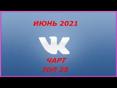 Чарт ВКонтакте Топ 25 [Июнь 2021]