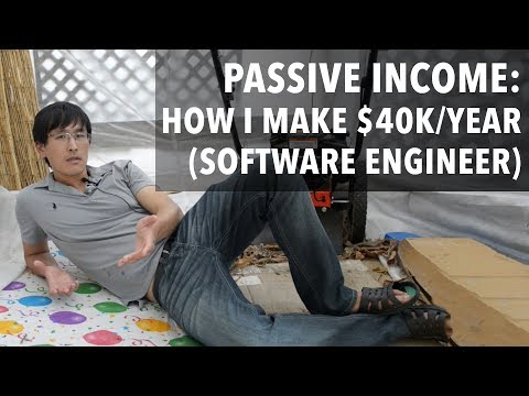 Passive Income: How I make $40,000/year doing nothing (software engineer edition)