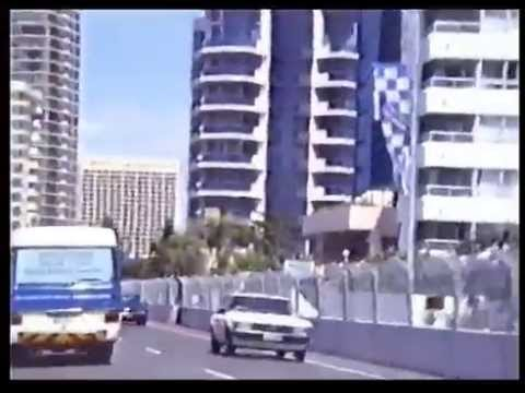 Gold Coast Indy Track, first year 1991, drive around.