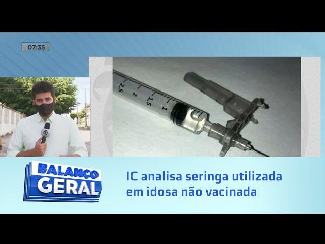 Perícia na seringa: Instituto de criminalística analisa material descartado