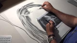 Timelapse Drawing Kurt Cobain Portrait