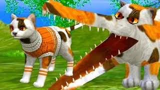 СИМУЛЯТОР Маленького КОТЕНКА #24 ЧЕЛЛЕНДЖ коты и кошки против диких кошек Challenge #ПУРУМЧАТА