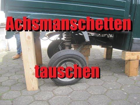 Piaggio Ape 50 Achsmanschetten wechseln - Die Apeschrauber