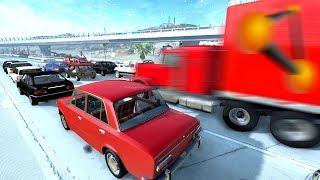 В ПРОБКУ НА ФУРЕ НА СКОРОСТИ 800 КМ/Ч | BeamNG.drive