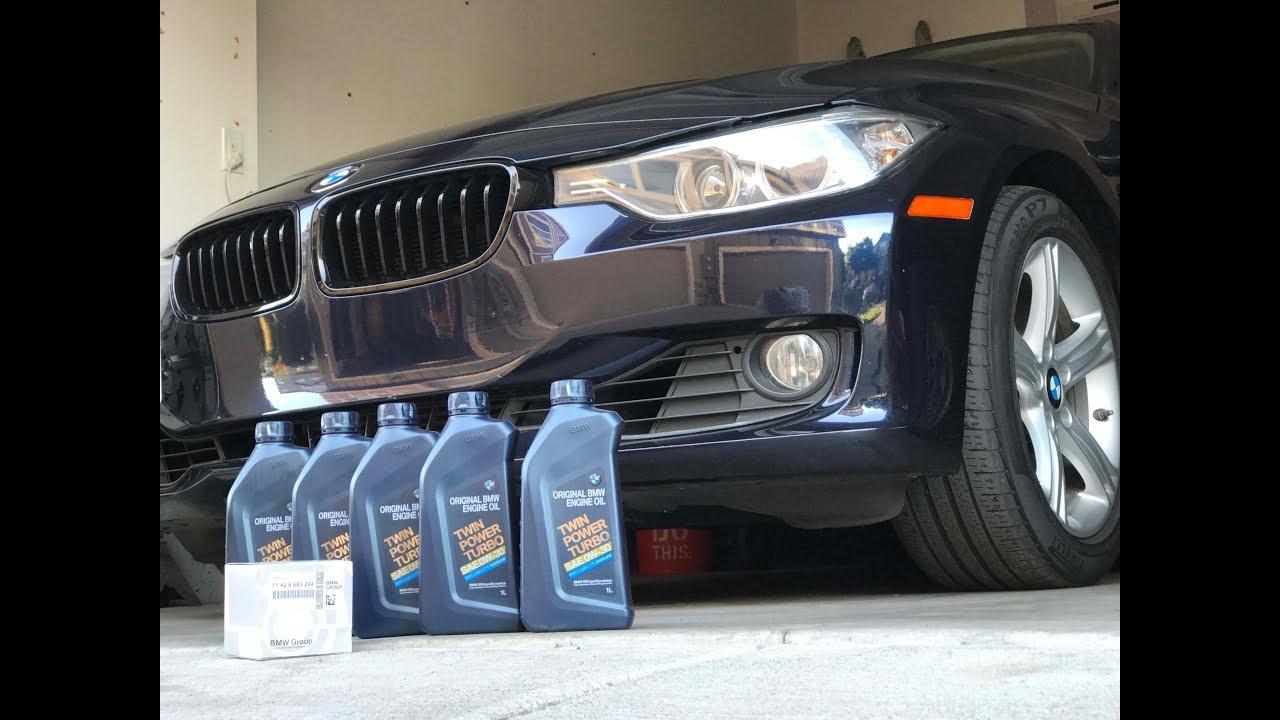 BMW F30 328i OIL CHANGE! - YouTube