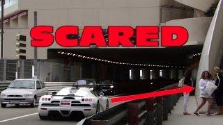 Koenigsegg SCARED GIRL !!