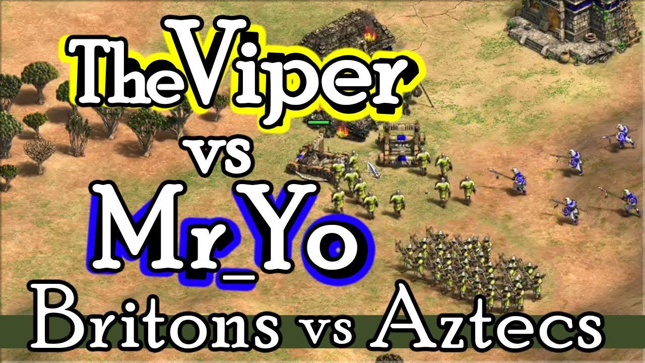 Britons vs Aztecs on Goldrush! TheViper vs Mr_Yo