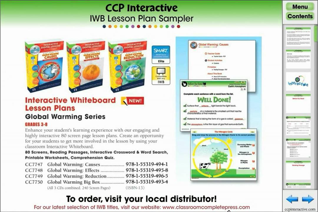 SmartBoard and Whiteboard Interactive Digital Lesson Plan Sampler ...