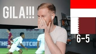 (GILA!!!) INDONESIA U-19 VS QATAR U-19 (AFC U-19) 5-6 // REACTION