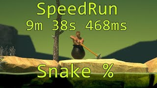"""Getting Over It With Bennett Foddy"" Snake% Speedrun (9m 38s 468ms)"