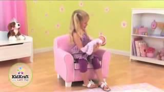 Girls Pink Chair Sofa Laguna Upholstered Childrens Chair Kidkraft 18615