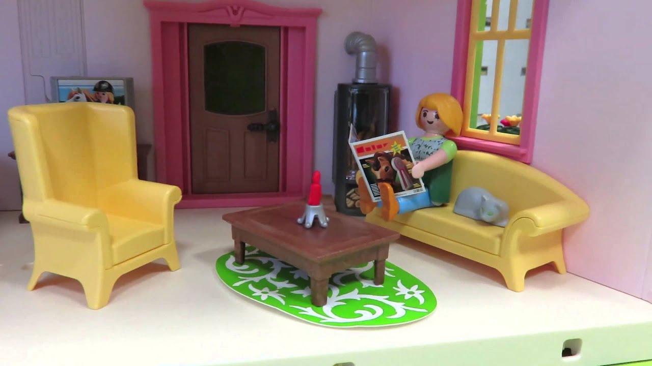 Das playmobil wohnzimmer 5308 aufgebaut im video for Wohnzimmer playmobil