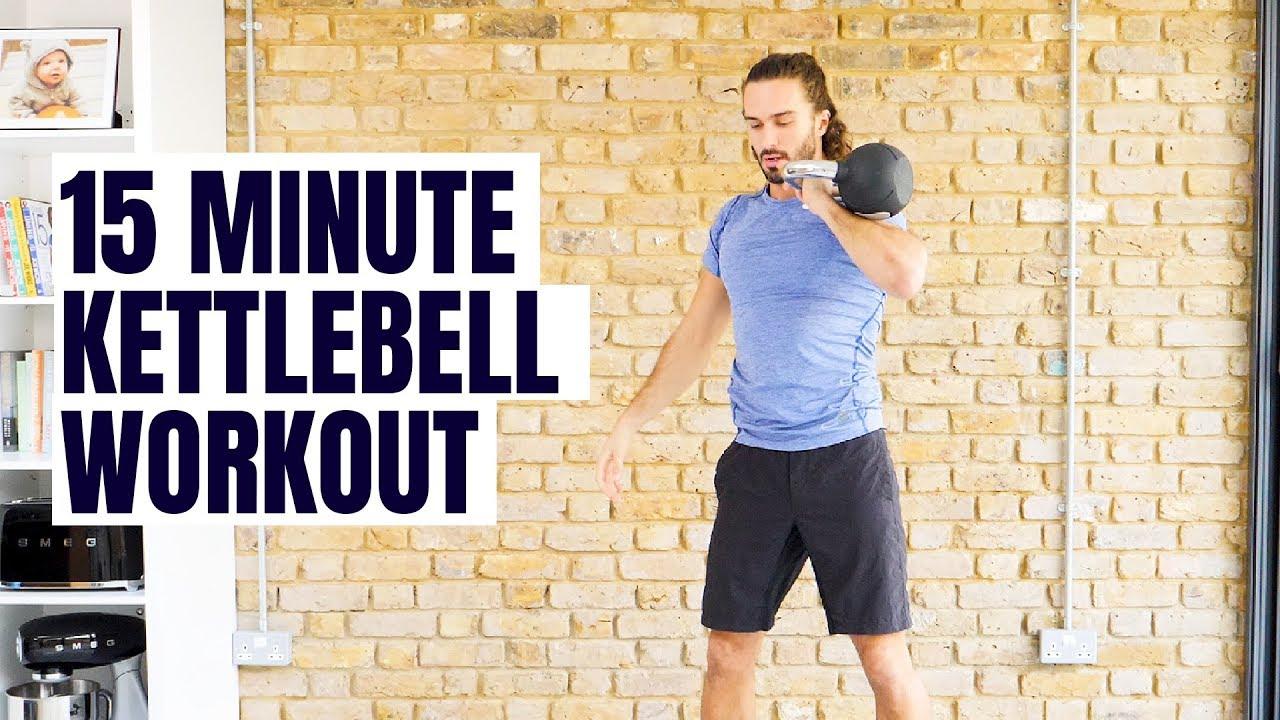Watch 15 Minute Kettlebells Workout video