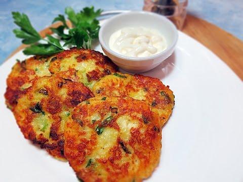 Картофельные оладьи с сыром | Рецепт картофельных оладьев | Картофель с сыром