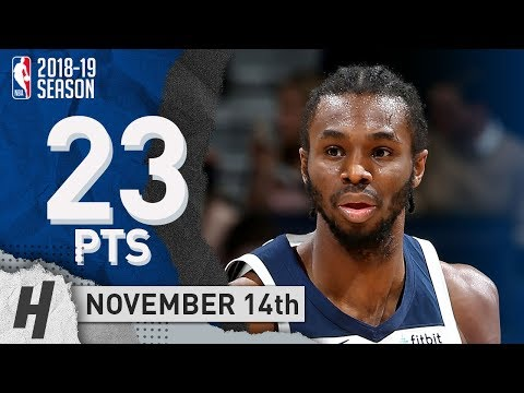 Andrew Wiggins Full Highlights Timberwolves vs Pelicans 2018.11.14 - 23 Pts, 4 Ast, 6 Rebounds!