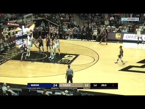 Highlights: Marian at Purdue | Big Ten Men's Basketball