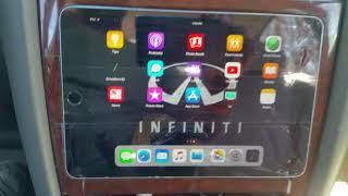 ipad mini 4 install, infiniti, ipad mini, ipad mini headunit