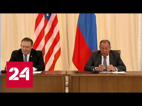 Смотреть фото Лавров и Помпео надеются на улучшение отношений России и США - Россия 24 новости Россия