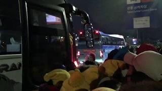 2018 平昌 PyeongChang 開会式後シャトルバス乗り場