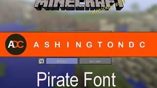 Minecraft 1.7.10 - Enable Pirate Font Across All Languages