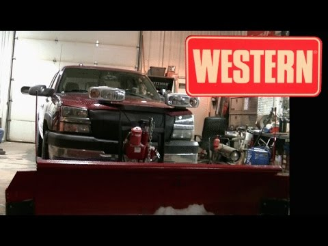 western pro snow plow install on dads 04 silverado 2500hd duramax