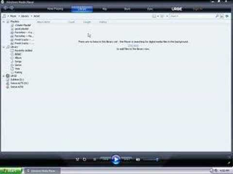 Adding Songs To Your Library With Windows Media Player 11