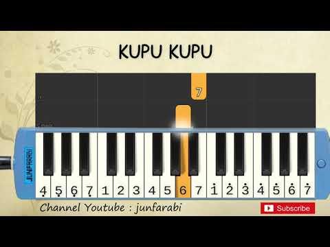 Not Pianika Kupu Kupu Yang Lucu - Tutorial Belajar Pianika Lagu Anak - Not Angka
