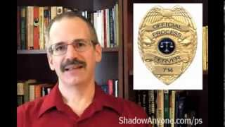 What is process serving.  How to be a process server with surveillance and skip tracing.