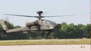 AH-64 Army Attack Helicopter startup,takoff and low pass