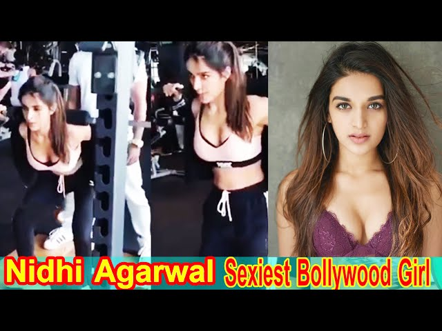 Nidhi Agarwal || Bollywood Sexiest Girl || Flexible Body Workout In Gym || Fit7day || Indian Actor |