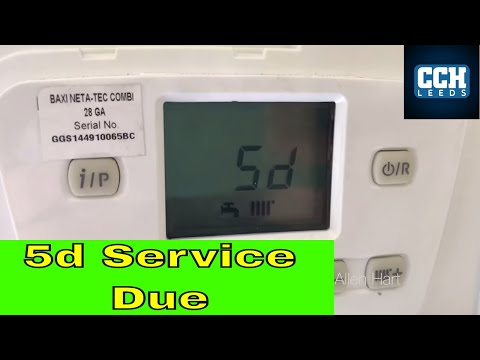 Baxi Neta Tec how to reset service mode. SD 5D on the display
