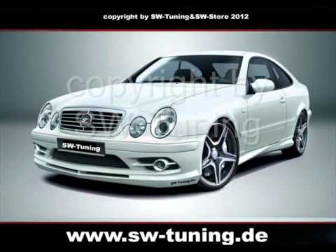 bodykit f r mercedes clk w208 st design front. Black Bedroom Furniture Sets. Home Design Ideas