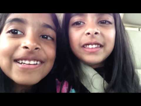 Two Cute Little Girls Singing Violin Song From Iddarammayilatho