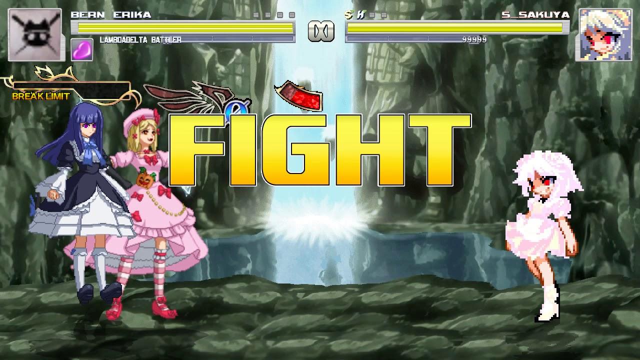 New Mugen 1 1 - Bern Erika and Lambdadelta Battler vs S Sakuya