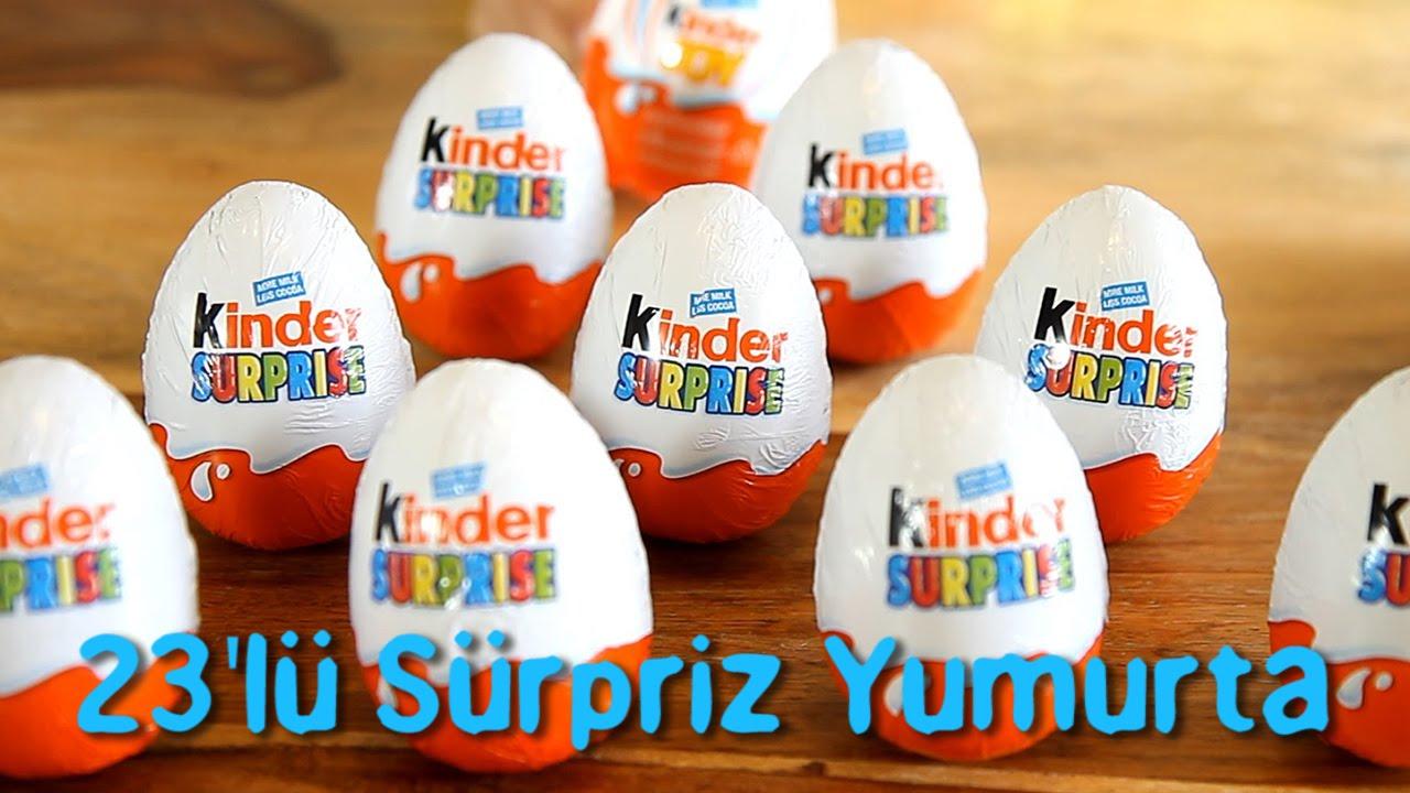 23 Tane Sürpriz Yumurta Açıyoruz (Şirinler, Angry Birds, Miki Fare)