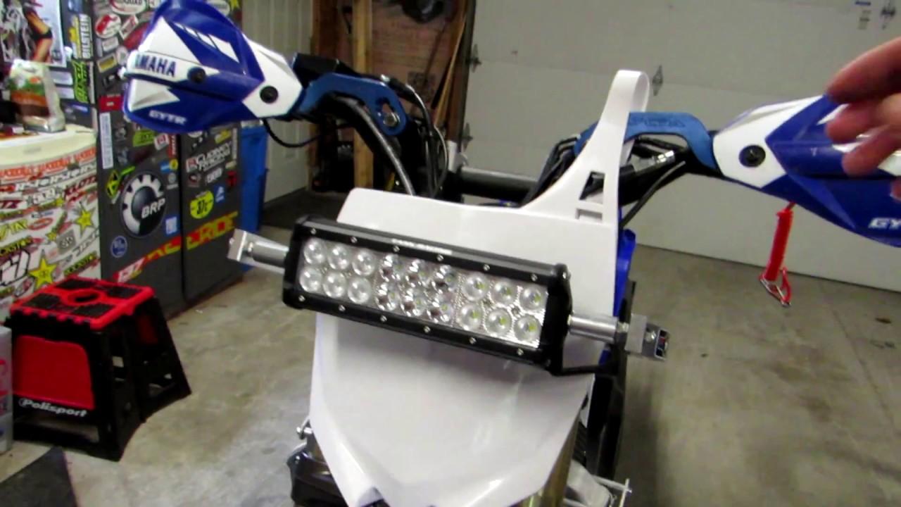 TASK RACING - BAJA GORE FORK MOUNTS with LED LIGHT BAR KIT INSTALL on
