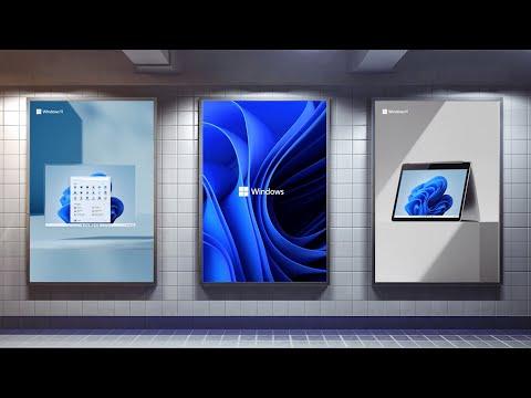 Windows 11 bloom and Windows 11 logo