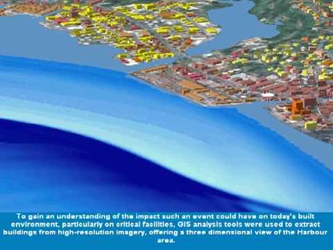 Tsunami Model Visualization For Suva Fiji Youtube