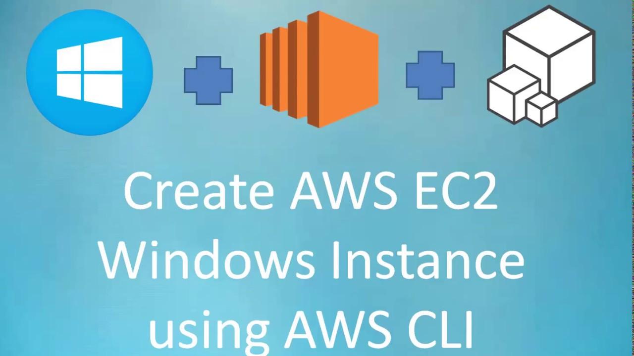 AWS Cloud | Create Windows EC2 Instance using AWS CLI