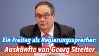 Ein Freitag als Regierungssprecher: Best of Georg Streiter