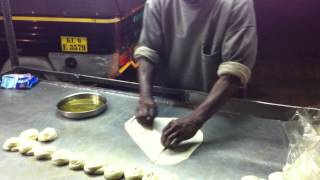 Parotta Preparation, Munnar, Kerala, India
