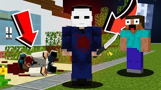 He Screamed When I Trolled Him As Michael Myers In Minecraft Minecraft Pranking