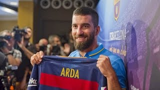 Presentation of Arda Turan as a FC Barcelona player