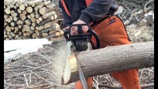 The chainsaw is sharp but won't cut