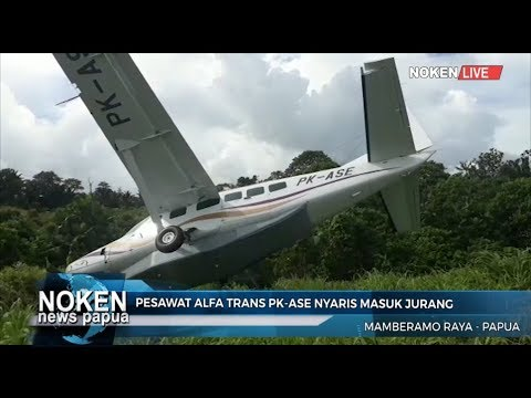 Pesawat Alfa Trans PK ASE Nyaris Masuk Jurang Mp3