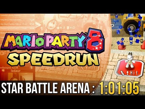 Mario Party 8 Star Battle Arena Speedrun in 1:01:05